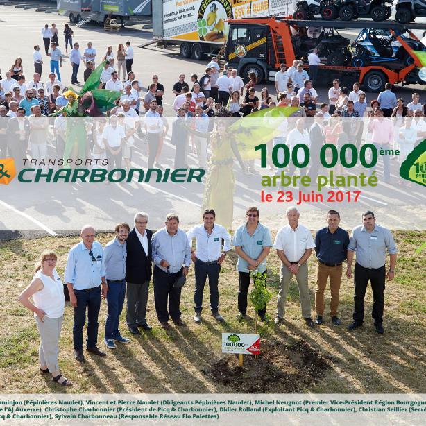 Picq & Charbonnier ont planté leur 100 000e arbre